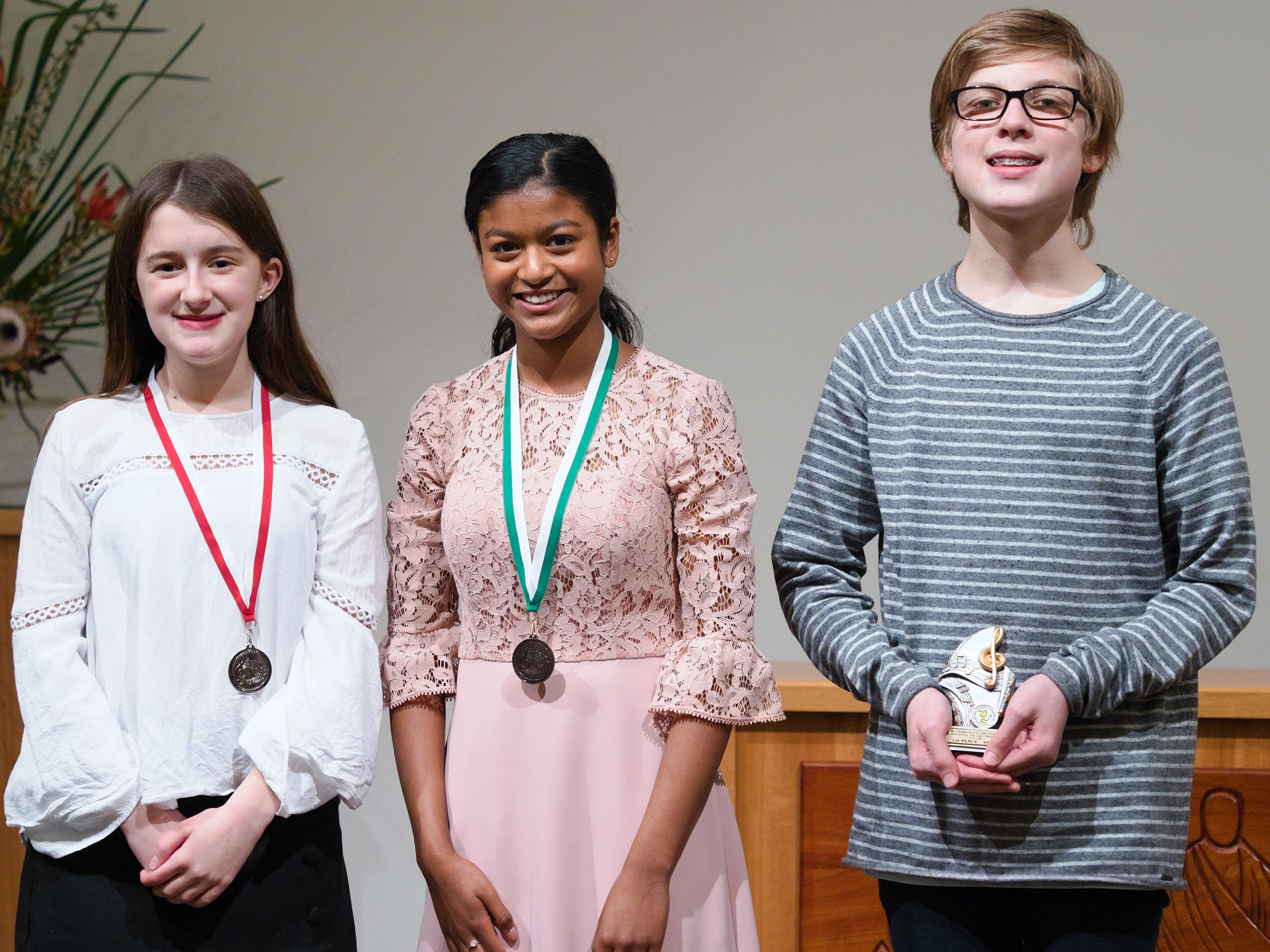 WGE Classical Vocal S708 1st Toby Wilksch, 2nd Holly Baker, 3rd Sheneli Phillipsz