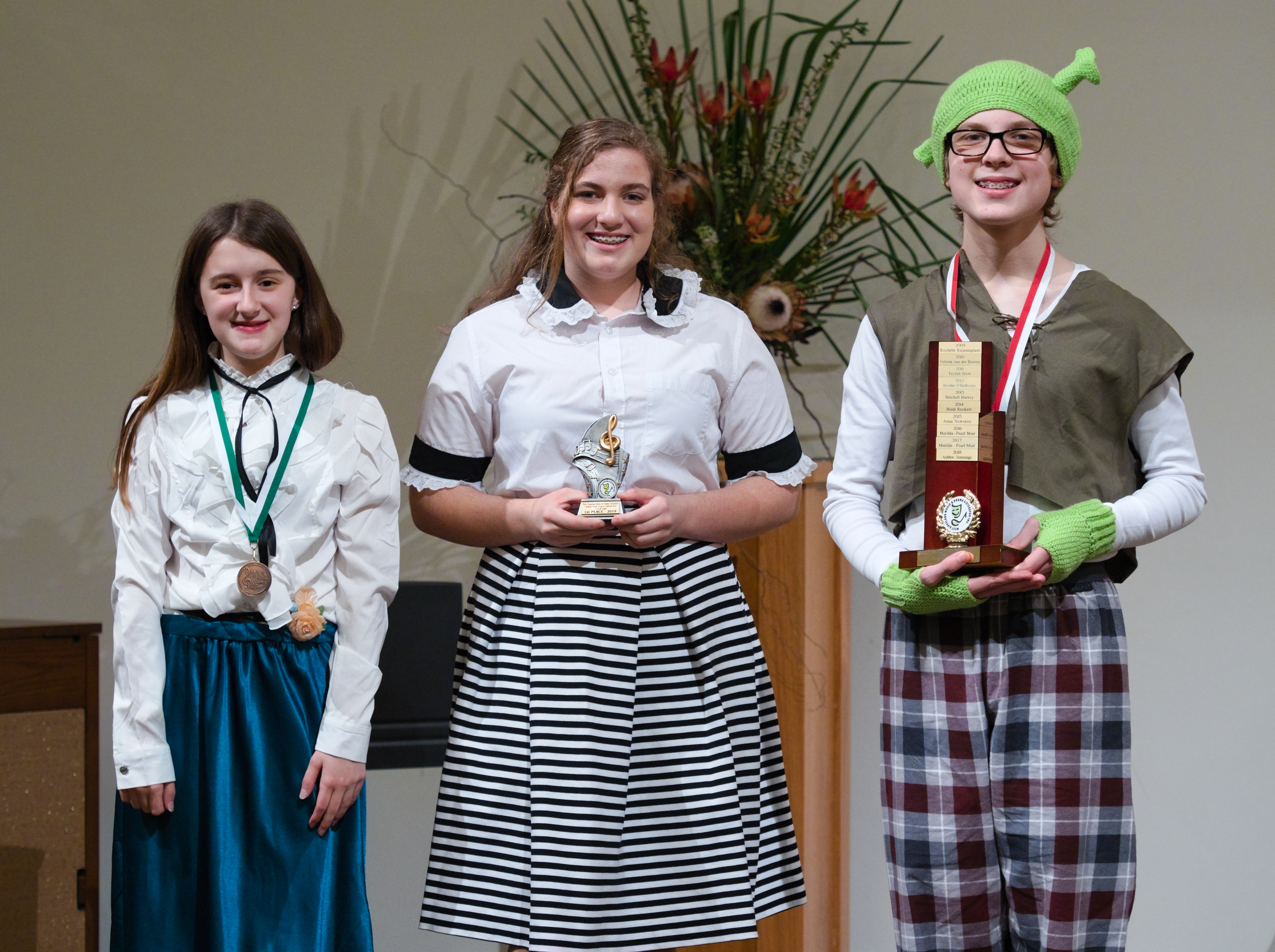 WGE Classical Vocal S709 1st Danielle Smith, 2nd Toby Wilksch, 3rd Holly Baker