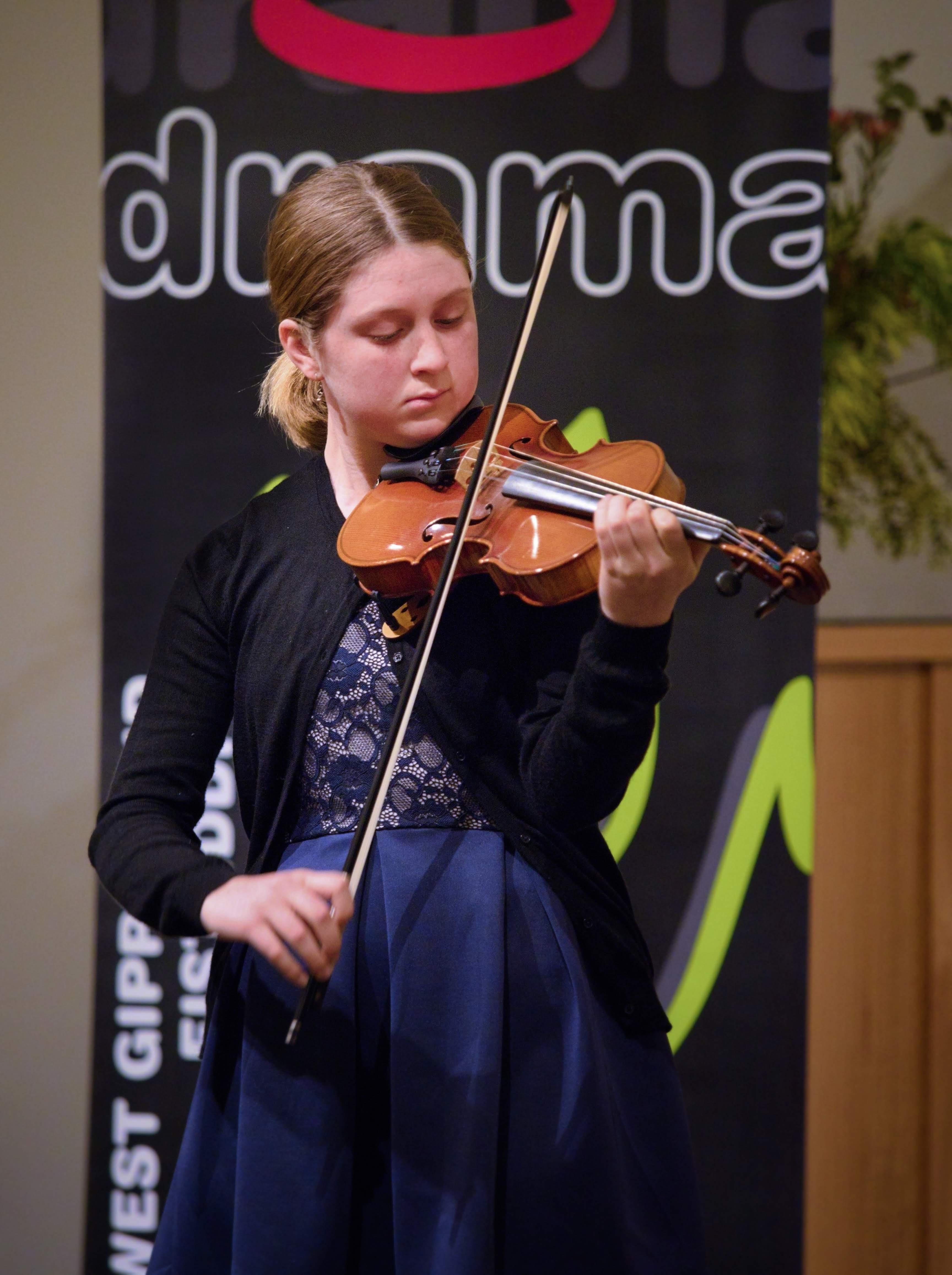 WGE Instrumental Autumn Lee Displays Her Skill on the Violin