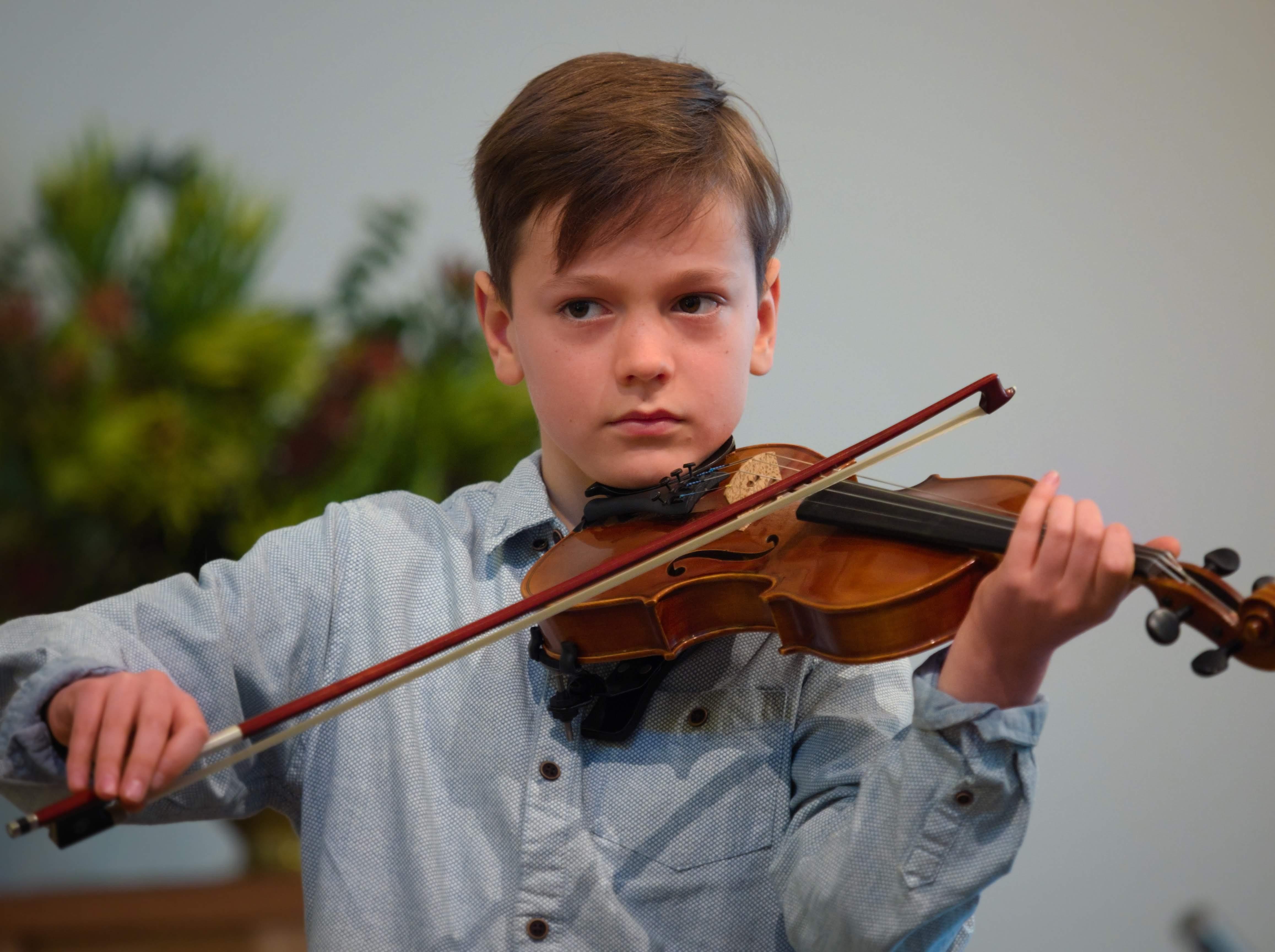 WGE Instrumental Kaelan Lowe Displays His Skill on the Violin
