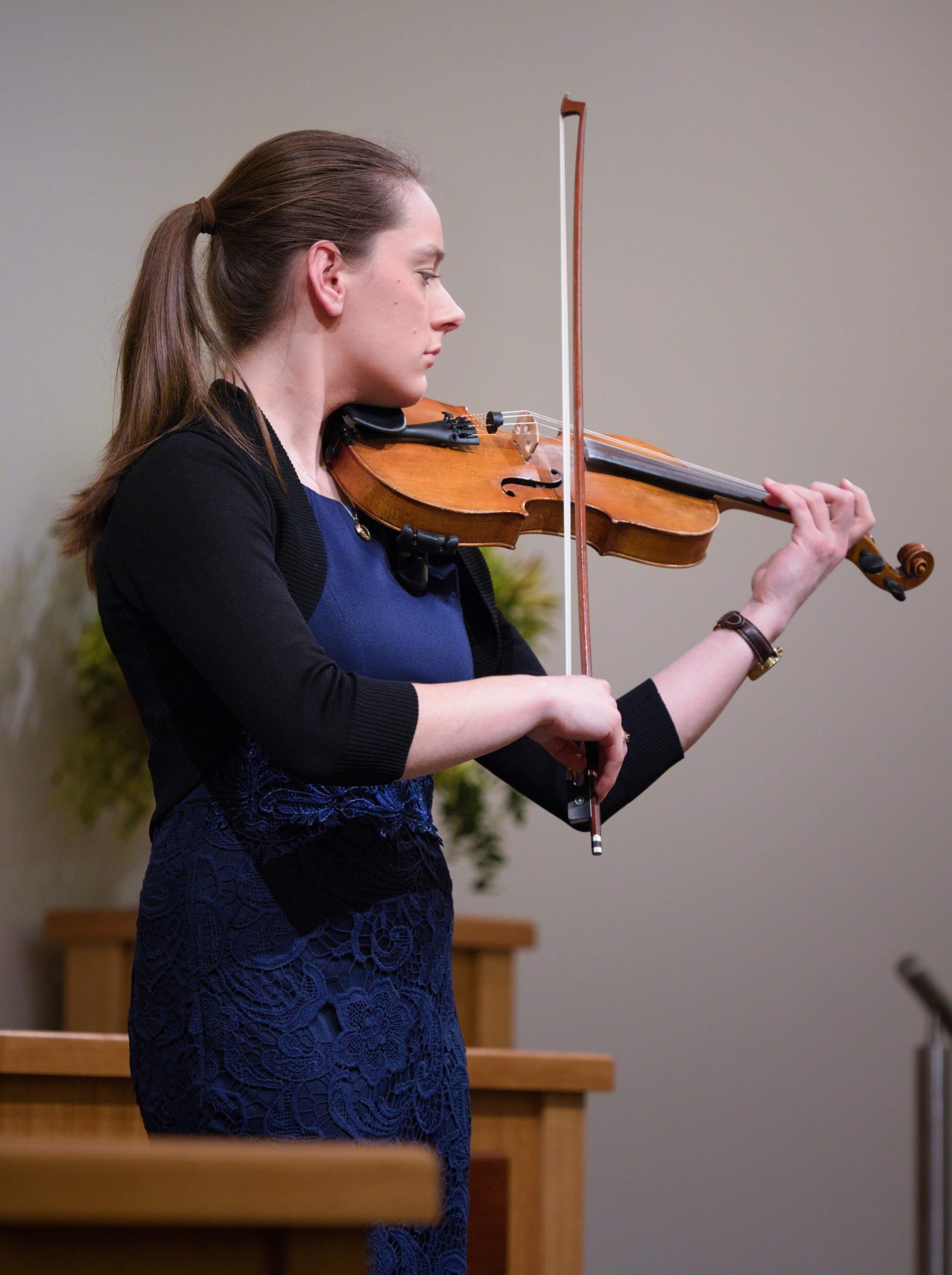 WGE Instrumental Taylah Evans Displays Her Skill on the Violin