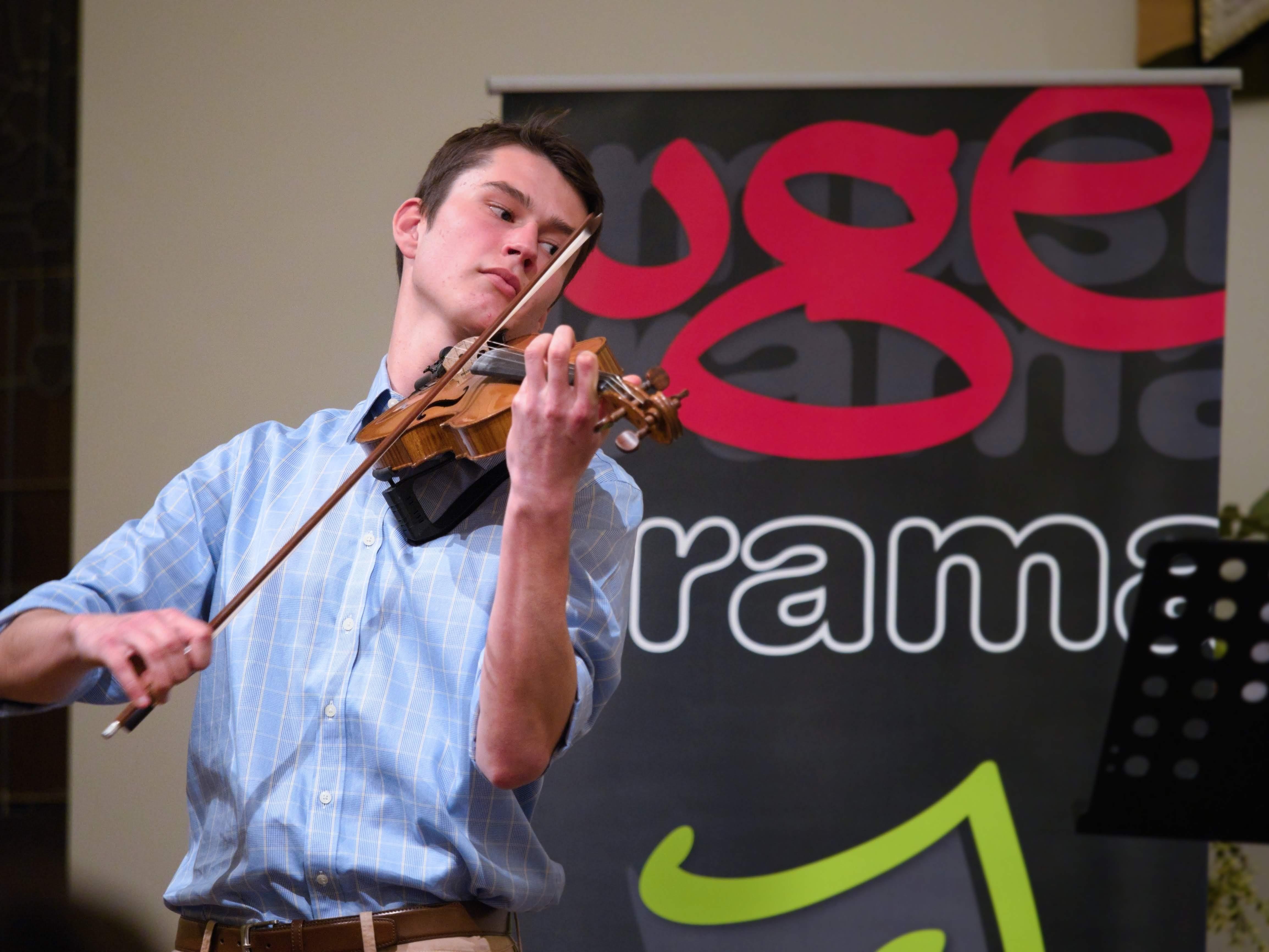WGE Instrumental Timothy Valette Permorms on the Violin
