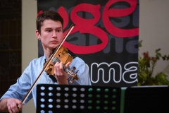 WGE Instrumental Timothy Valette Displays His Skill on the Violin