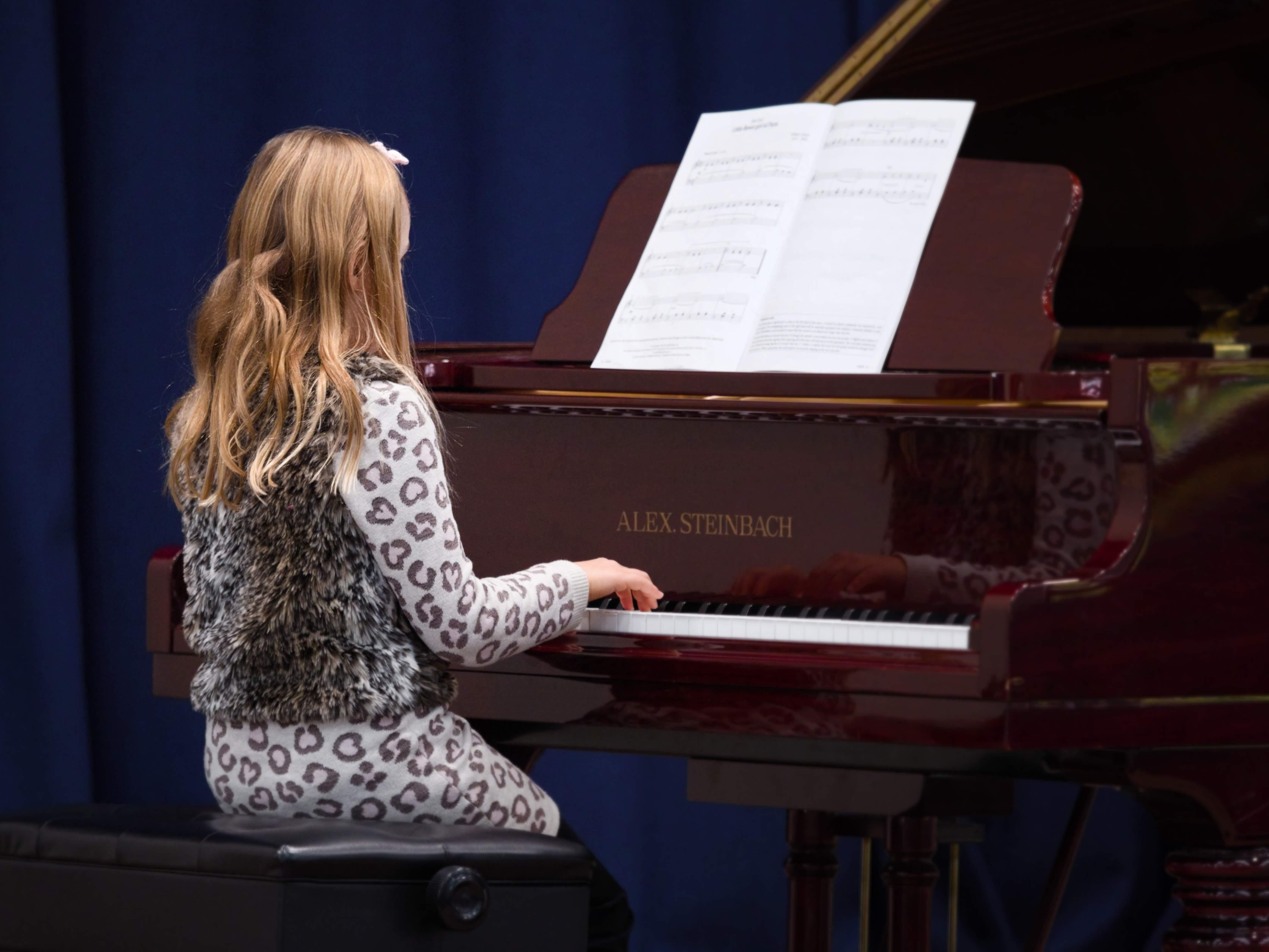 WGE Pianoforte Day 1 Ruby McGoldrick Displays her Skills at the Piano