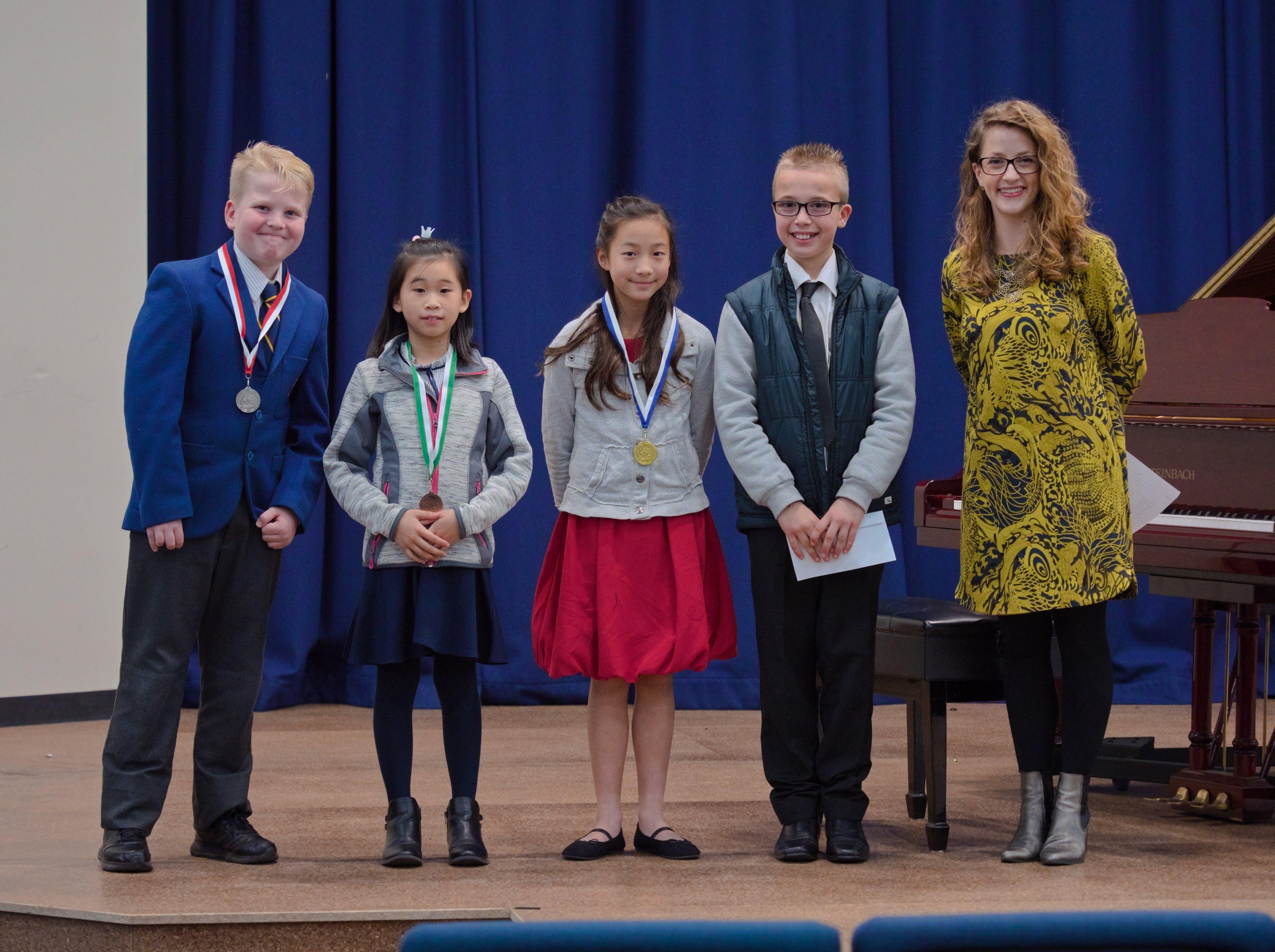 WGE Pianoforte Day 1 S1.06 1st Giovanna Wijaya, 2nd Oscar Wilkins, 3rd Serenity Lao, Encouragement Award Winner Kaylen Bietman