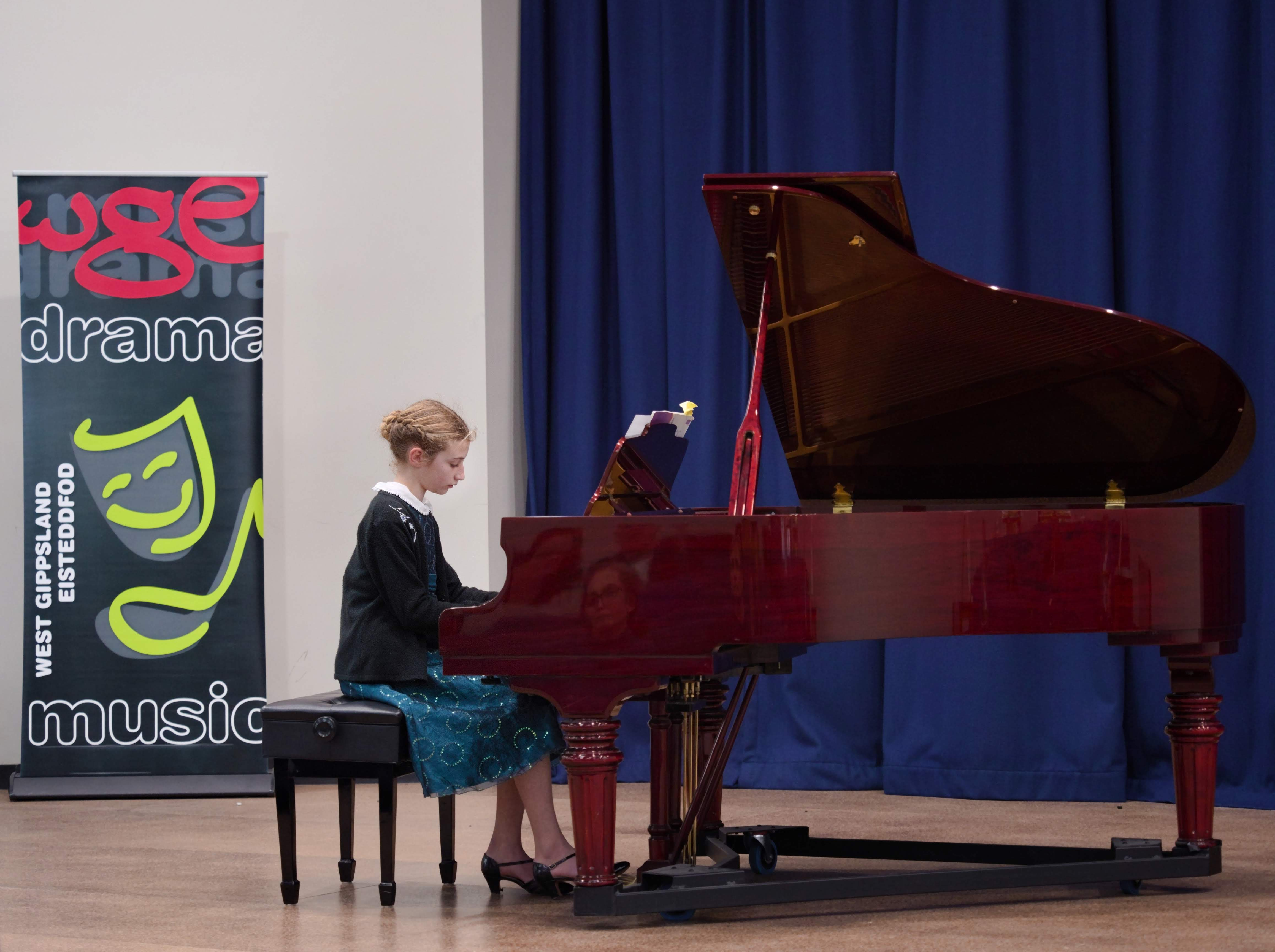 WGE Pianoforte Day 2 Adele Gillam Displays her Skills on the Piano