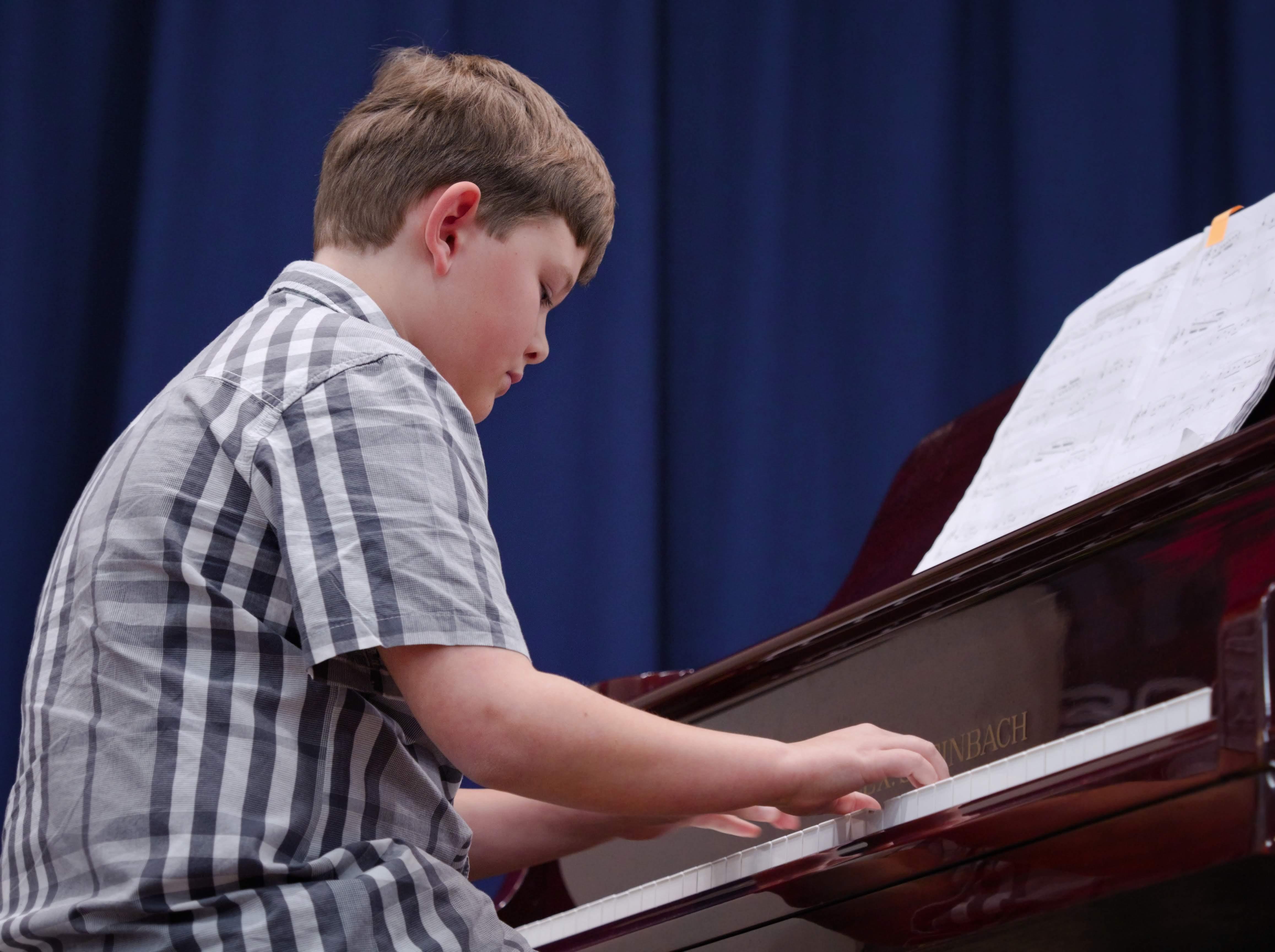 WGE Pianoforte Day 2 Callum Olden Displays his Skills on the Piano