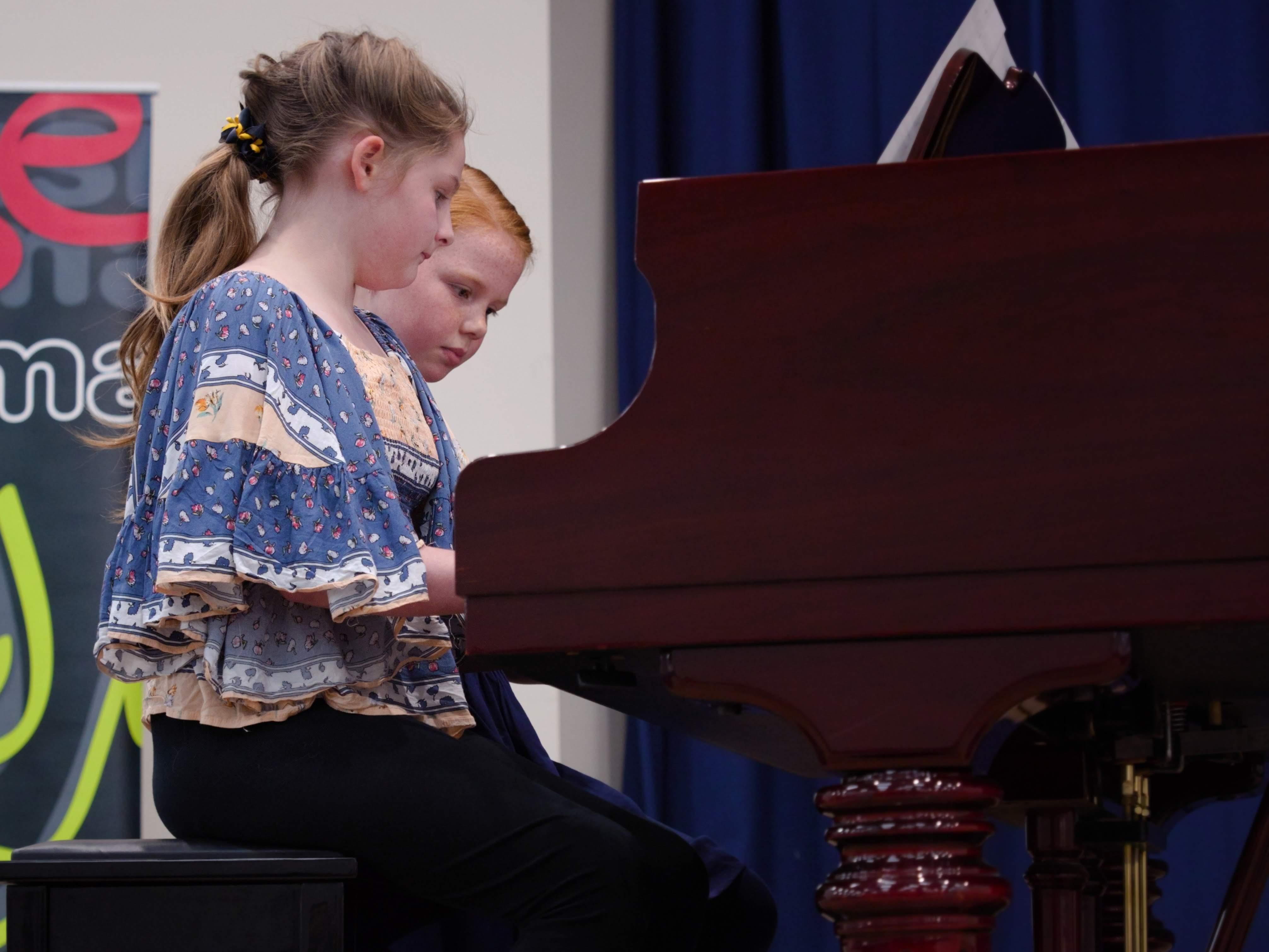 WGE Pianoforte Day 2 Evangeline Marquis & Gabrielle Hawkins Display their Skills on the Piano
