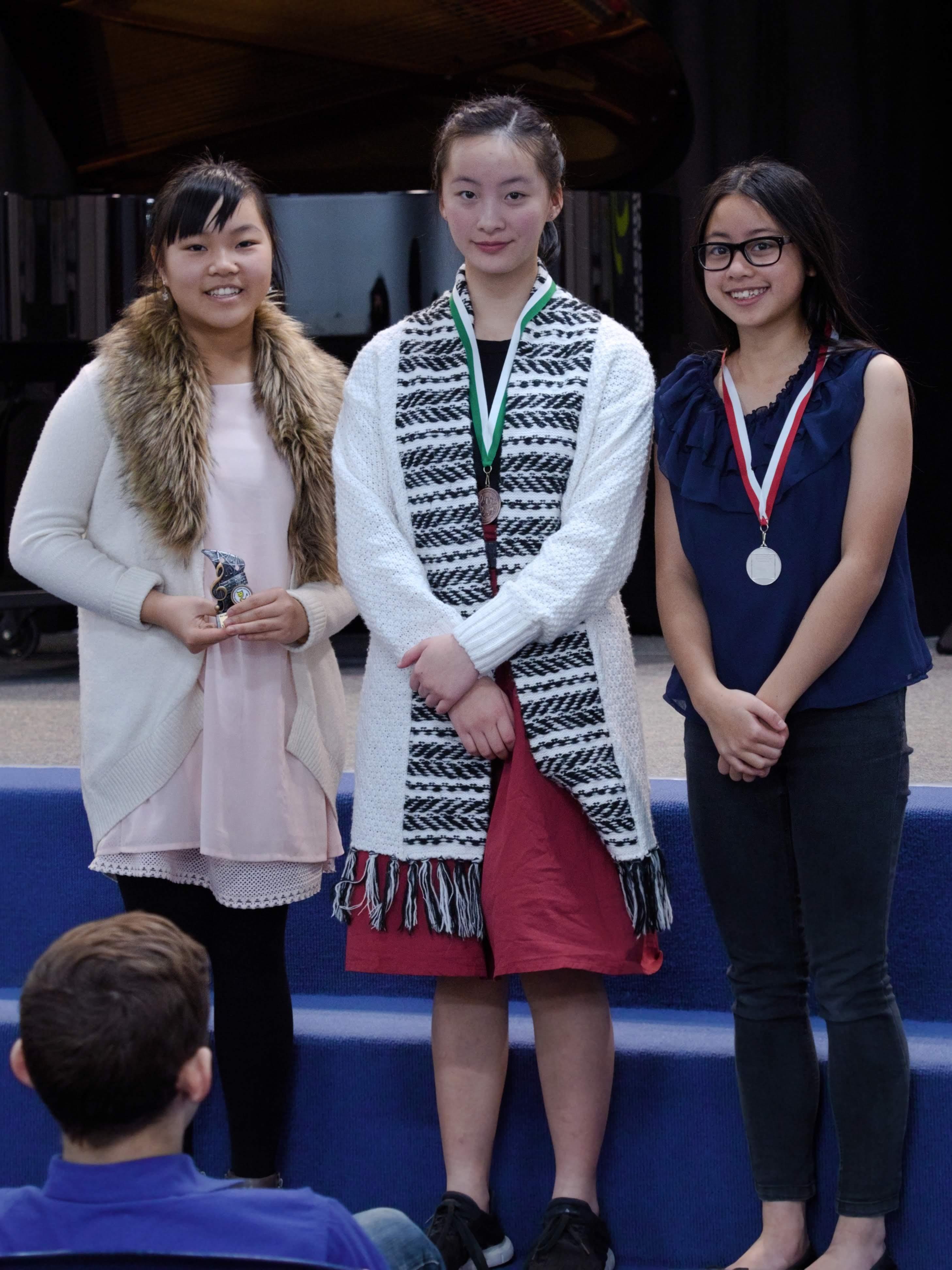 WGE Pianoforte Day 3 S1.16 1st Vivian Shen, 2nd Victoria Bahana, 3rd Gabrielle Wijaya