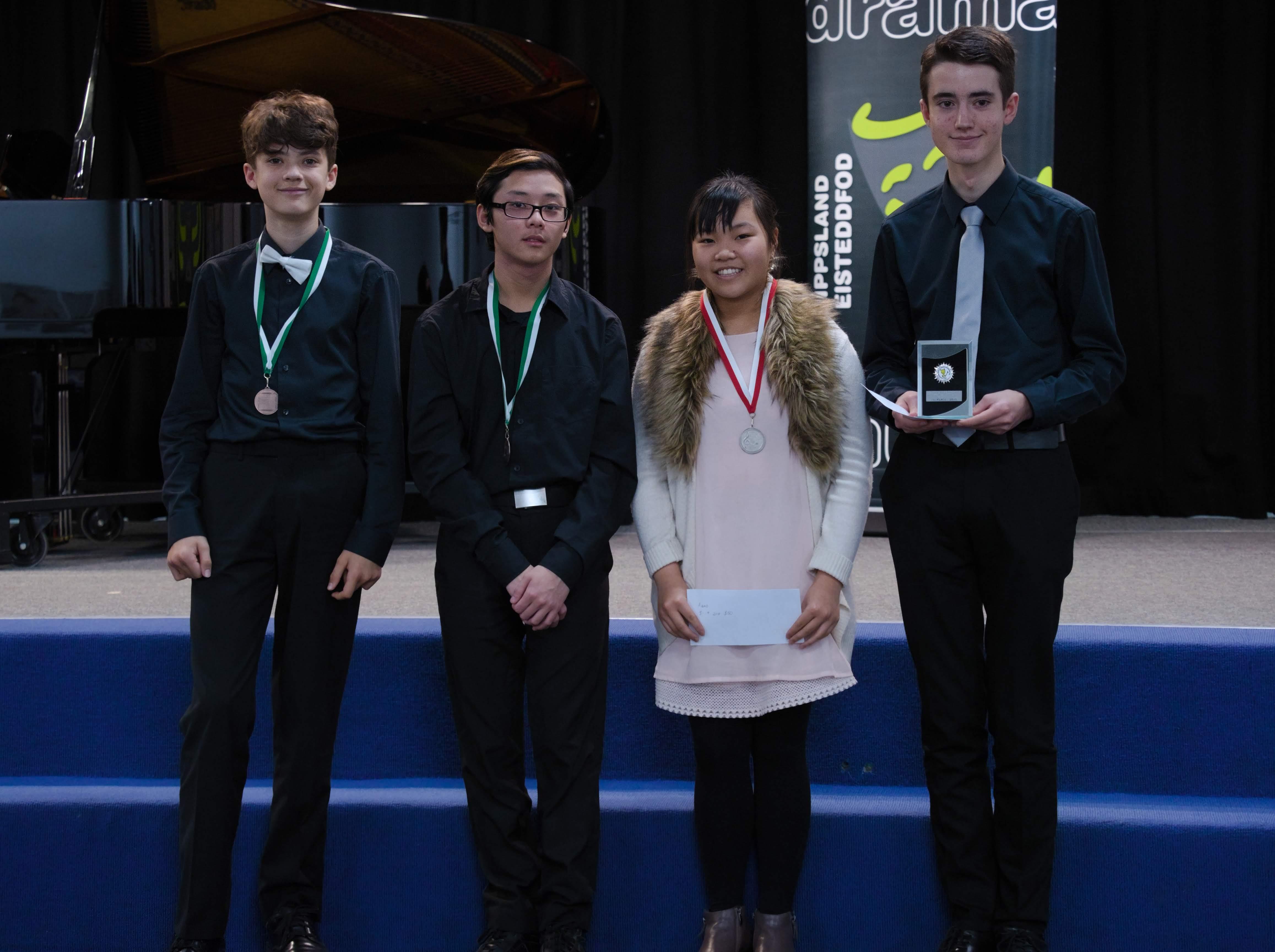 WGE Pianoforte Day 3 S1.19 1st Eisak Tabensky, 2nd Vivian Shen, 3rd Aleksandr Tabensky & Steve Widjaja