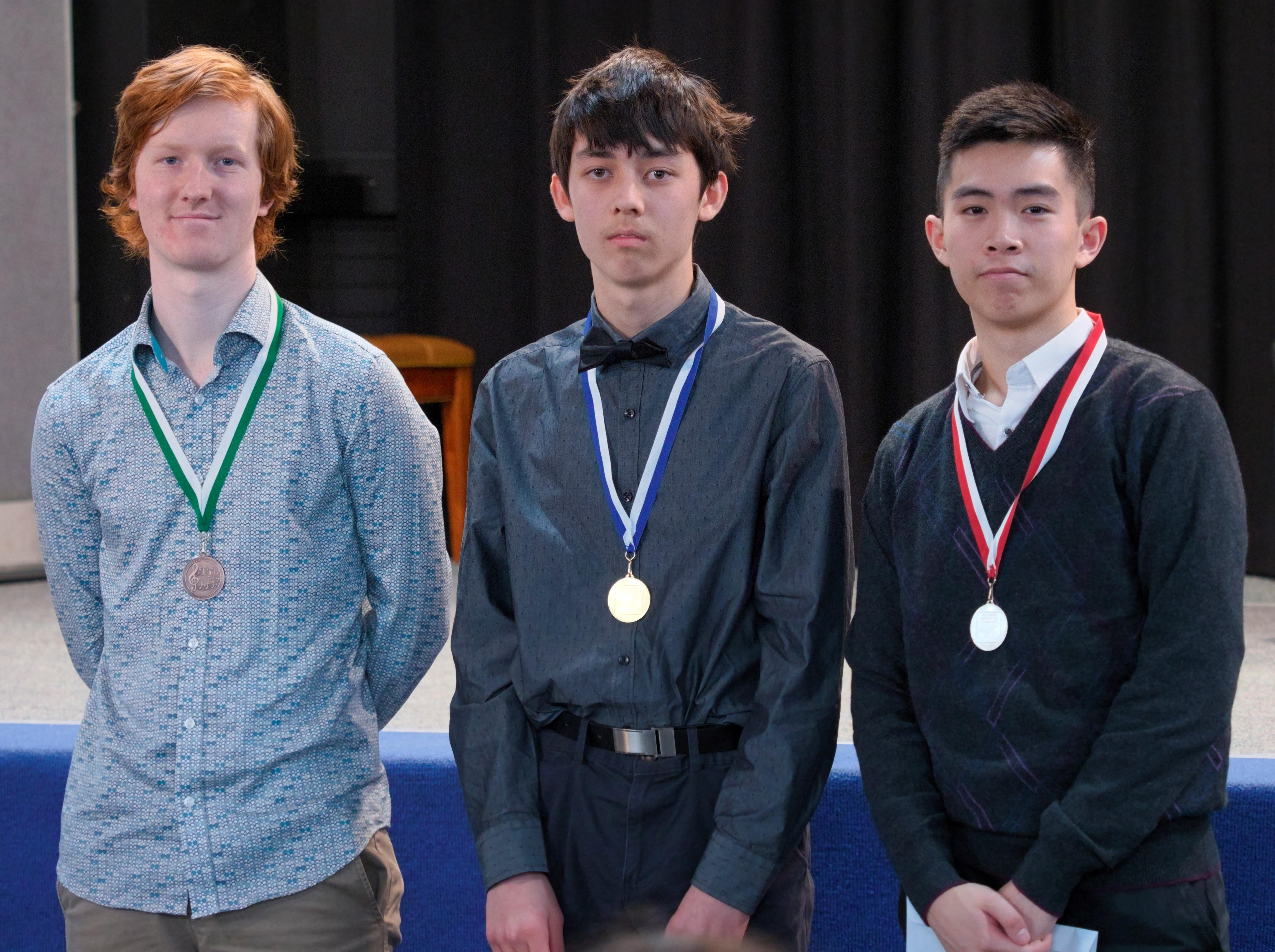 WGE Pianoforte Day 4 S1.25 1st. Dennis Melis, 2nd Timothy Kan, 3rd Martin Peters