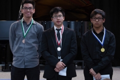 WGE Pianoforte Day 3 S1.21 1st Michael Widjaja, 2nd Sherman Tseng, 3rd Nathan David