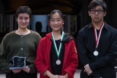 WGE Pianoforte Day 3 S1.23 1st Emma Carusi, 2nd Michael Widjaja, 3rd Sophia Wang